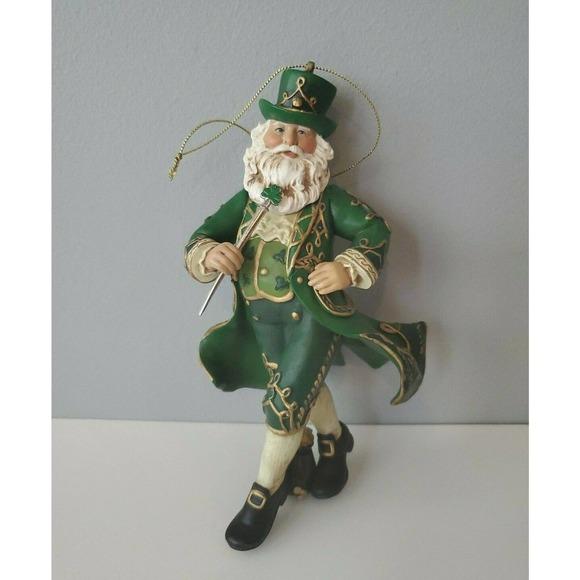 Kurt Adler Ireland Santa Christmas Ornament